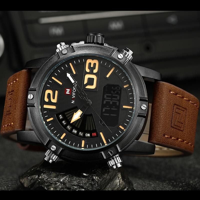 2019 NAVIFORCE Men's Fashion Sport Watches Men Quartz Analog Date Clock Man Leather Military Waterproof Watch Relogio Masculino #sportswatches 2019 NAVIFORCE Men's Fashion Sport Watches Men Quartz Analog Date Cloc #sportswatches
