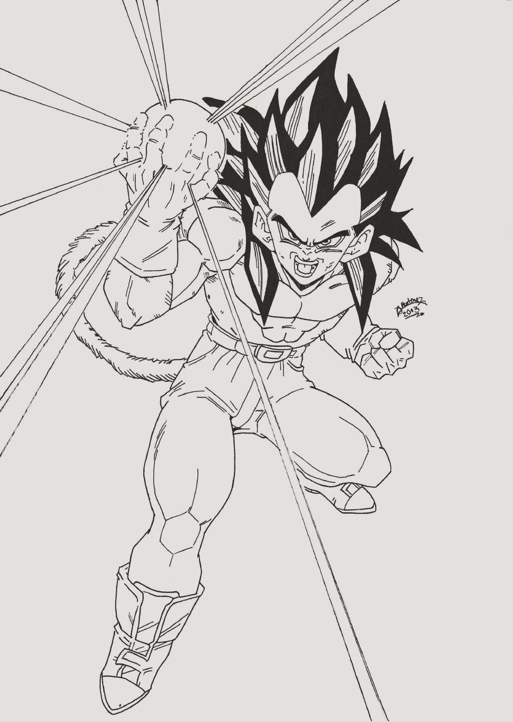 Dragon Ball Z coloring pages | Print and Color.com | 1439x1024