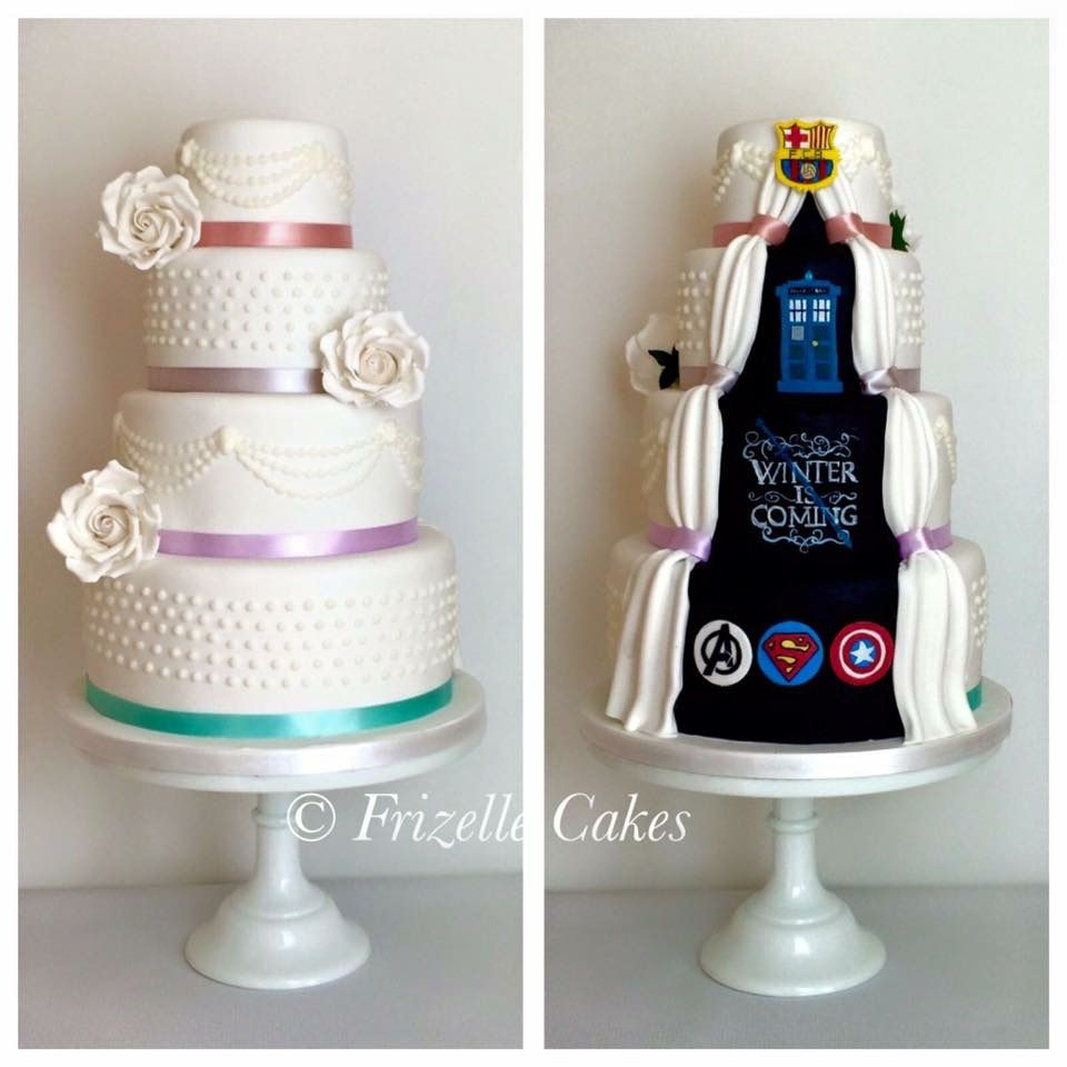 Secret panel wedding cake. Pretty wedding cake with marvel comics ...