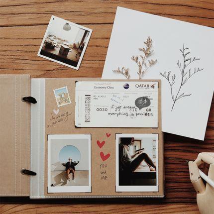 Photo of Photo Memory Book. 60 Page Baby Album. Handmade Photo Album. Wedding Guest Book. Pocket Travel Photo Book. DIY Scrapbooking. Scrapbook Album