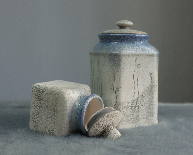 Winter Storage Jar Set by HerbariumCeramics on Etsy