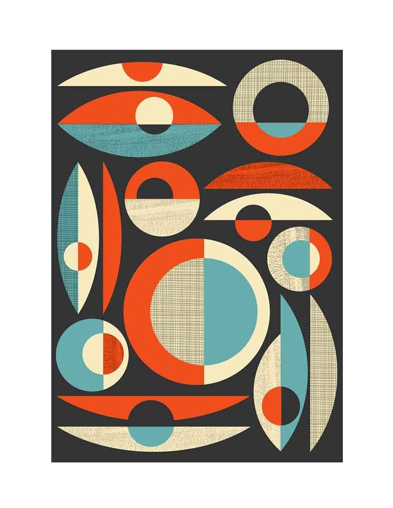 Modern Abstract Art Poster Mid Century Modern Poster Geometric Art