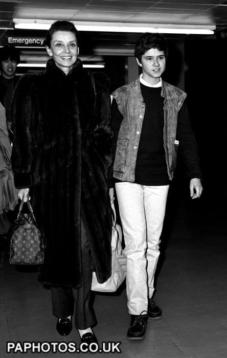 Audrey Hepburn and her son Luca Dotti