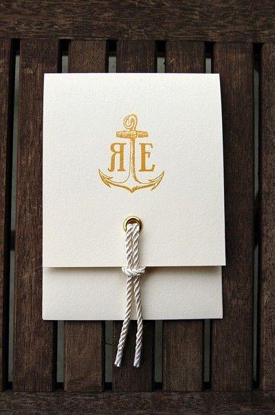 Beautiful nautical theme program or invitation card.