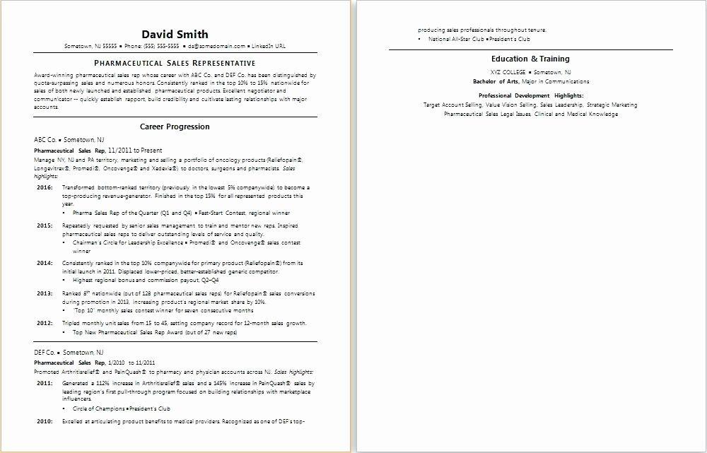 50 elegant entry level pharmaceutical sales resume in 2020