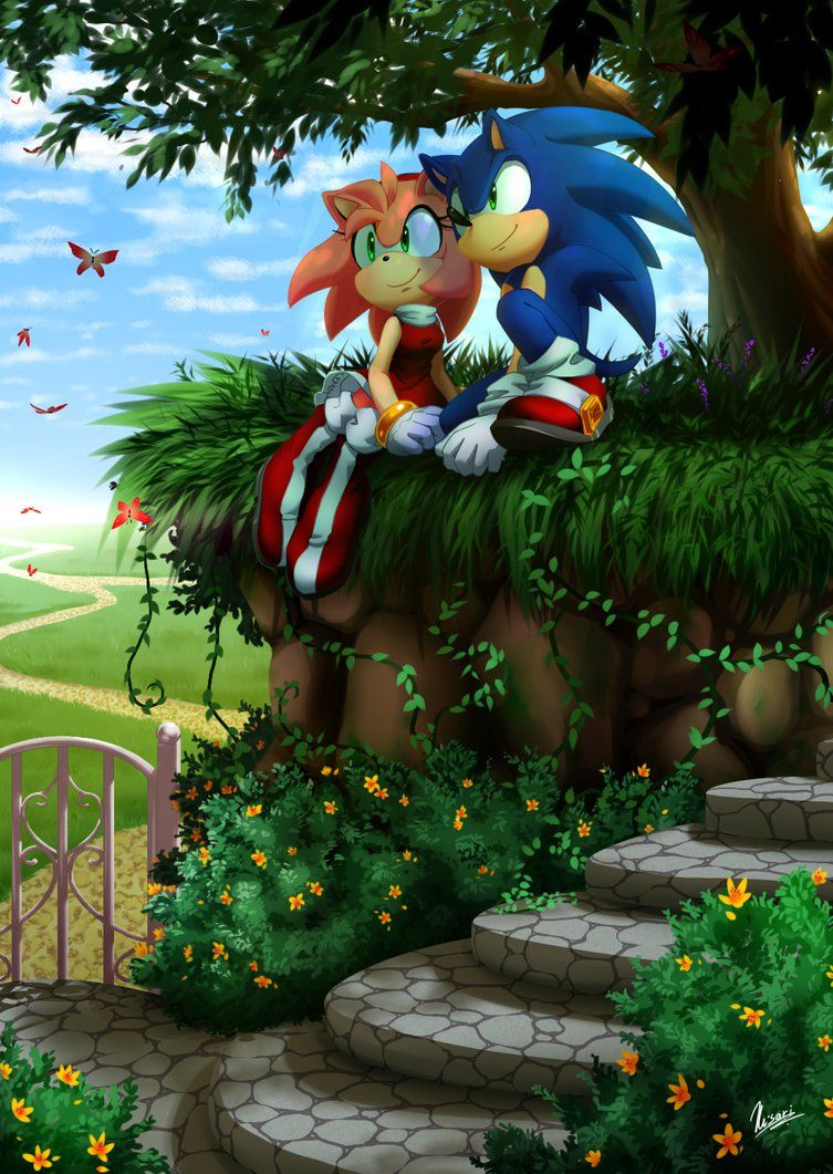 A Place For You And I By Myly14 Sonic The Hedgehog Personagens Sonic Amy Rose