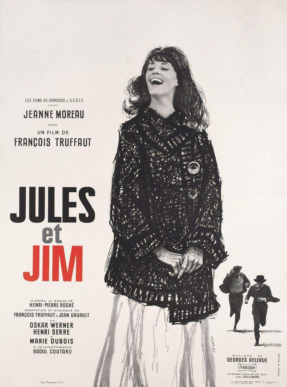 Jules And Jim 1962 French Moyenne Poster Posteritati Movie Poster Gallery New York French Movie Posters French Movies Jules And Jim