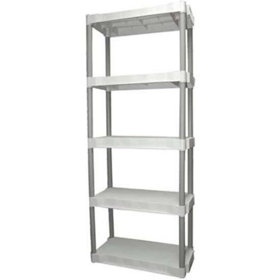 Plano 5 Shelf Storage Unit Light Taupe Increase Your Organizing Space Store All Plano Plastic Storage Units Plastic Storage Cabinets Storage Unit