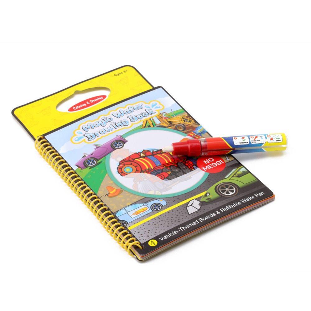 Magic Kids Book Water Drawing Pen Coloring Book Water Painting ...