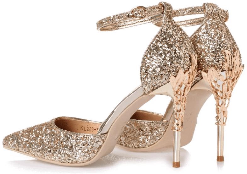 5de2b9eec6 Sexy Mental Heel Women Shoes Sequins leather High Heels Women Pumps Flower  Metal Heel Stiletto Wedding Party shoes #womens #dresses #promdresses  #swimsuits ...