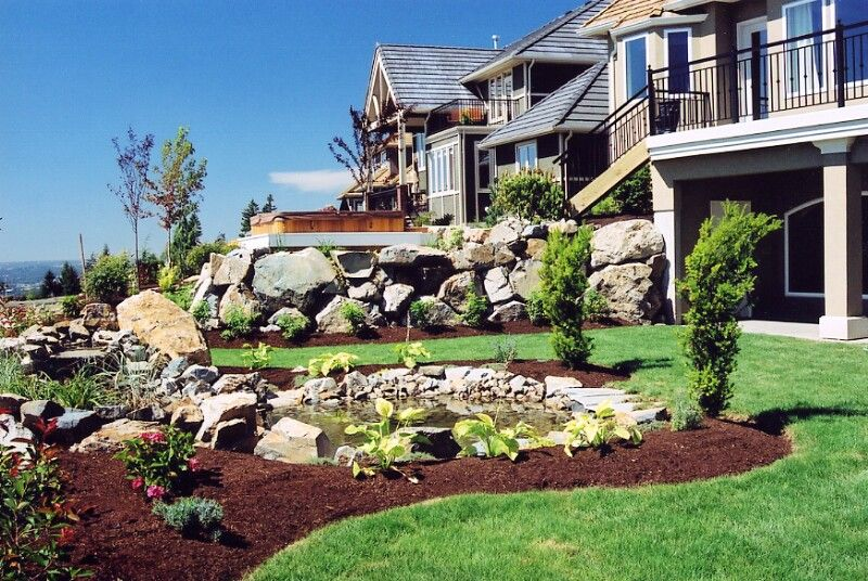 Landscapes ideas sloped front yard landscaping ideas small for Small sloping garden designs