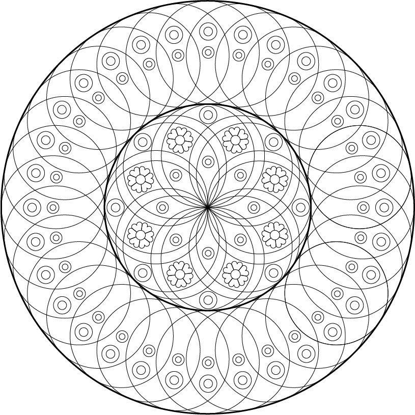 ColorBinge Mandalas! | Mandalas | Pinterest | Mandalas, Colorear y ...