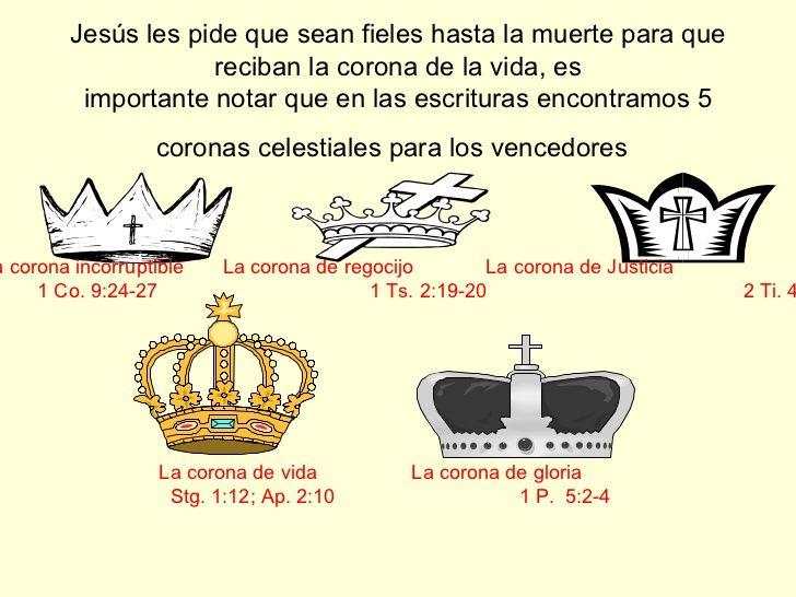 Resultado de imagen para que forma tienen las coronas segun la biblia |  Coronas, Biblia, Celestial