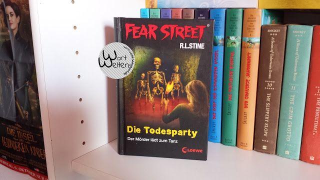 Wortwelten Review R L Stine Die Todesparty Fear Street Jugendbuch Bucher Mystery