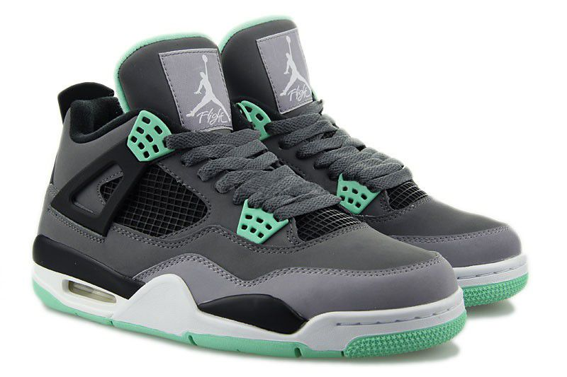 308497033 Air Jordan 4  Green Glow  Dark Grey Green Glow