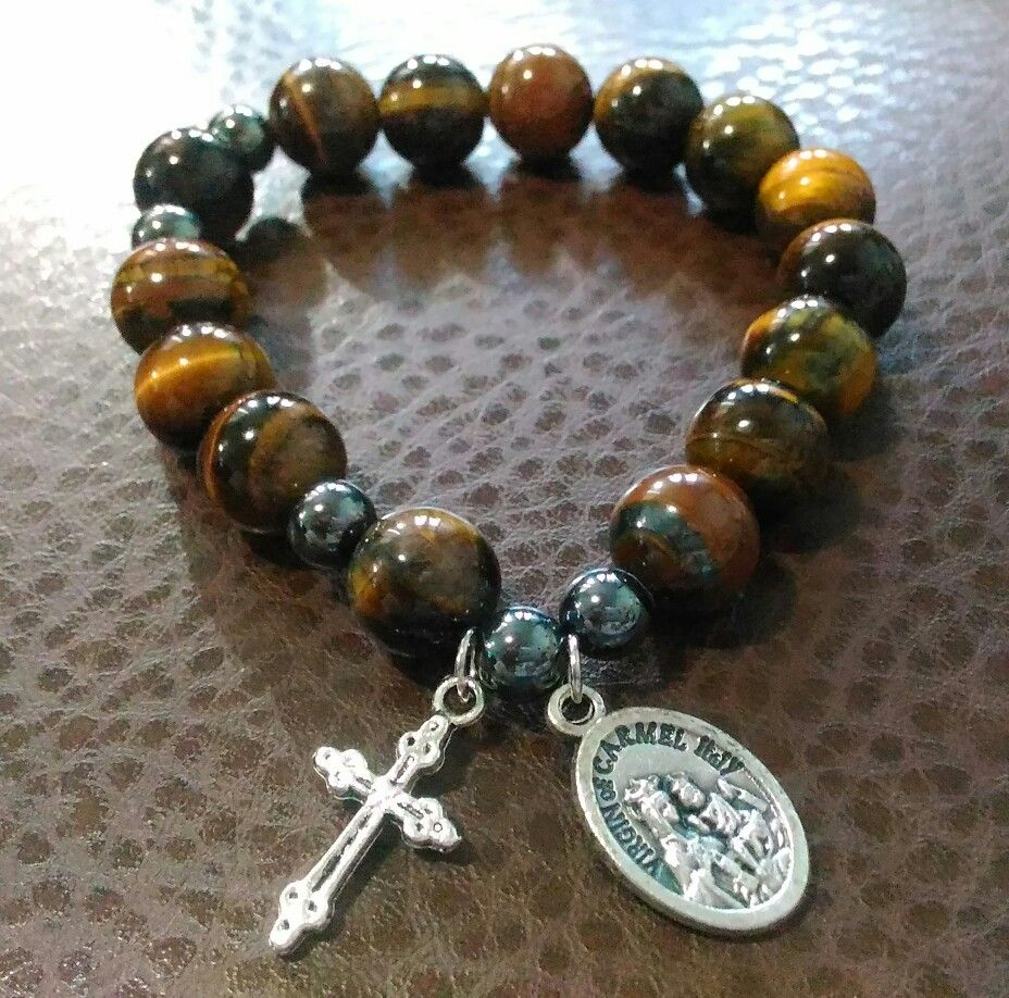 Pin by devout gift shop on menus gemstone rosary bracelet p