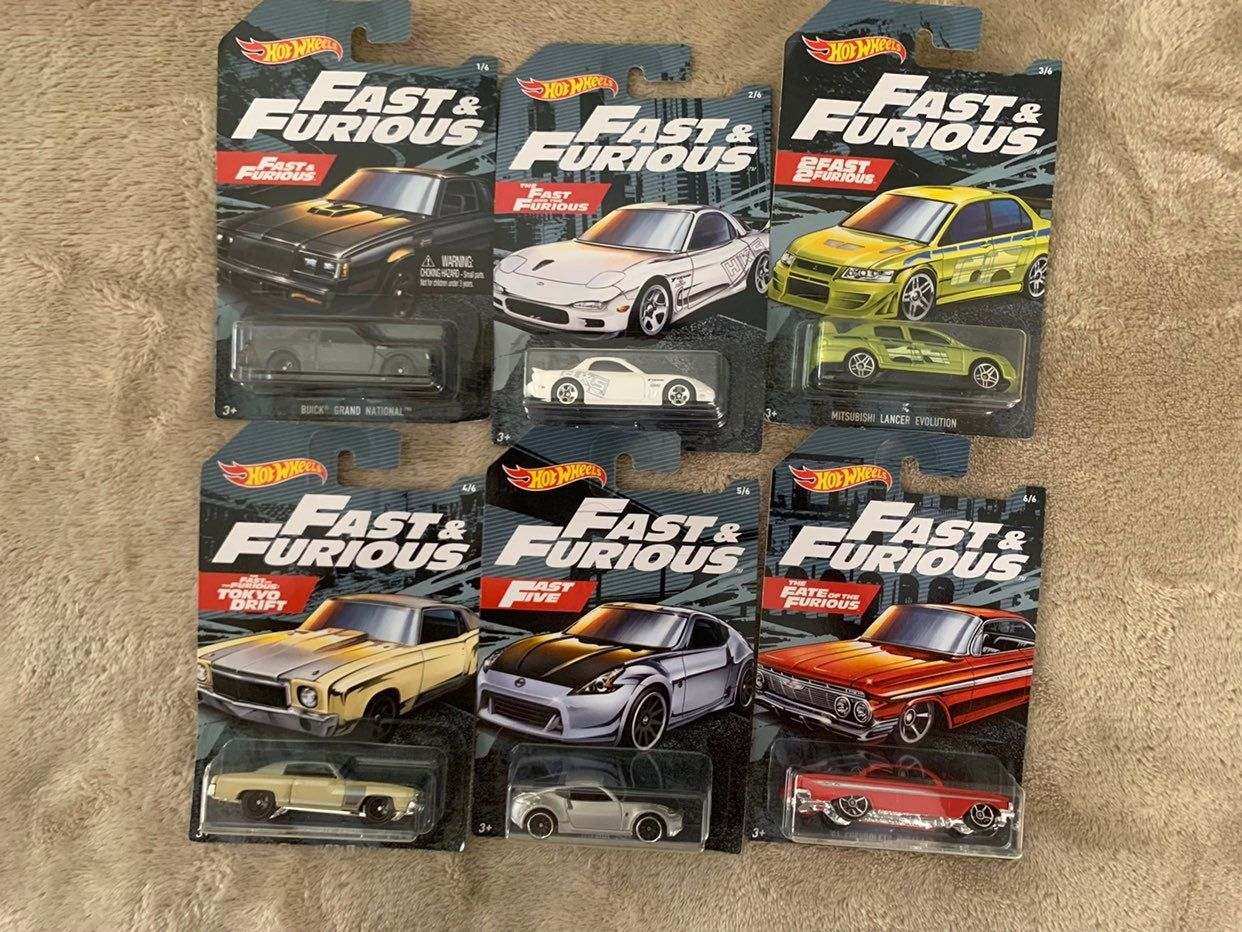 Brand New Hot Wheels Fast Furious 2 Fast 2 Furious Set Of 6