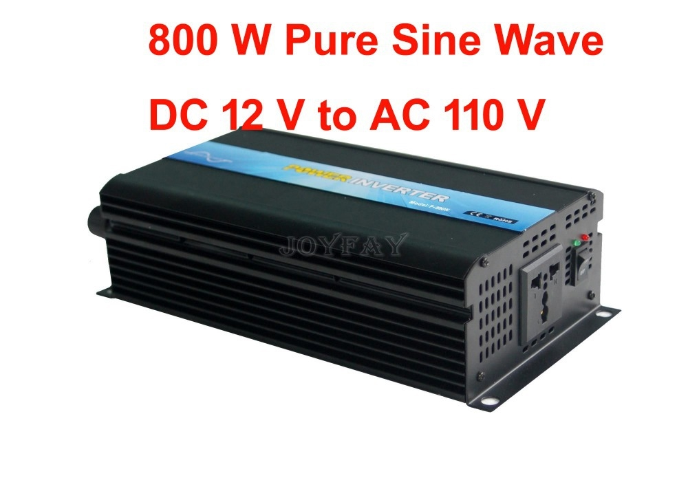 137.49$  Buy now - http://alii2t.worldwells.pw/go.php?t=1293265179 - 800W Pure Sine Wave DC 12V to AC 110V Power Inverter 137.49$