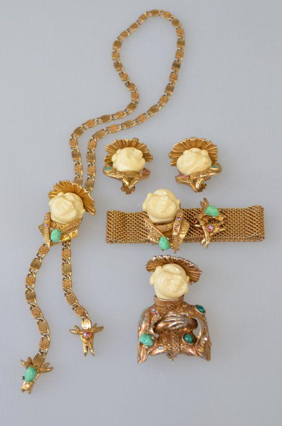 HAR sets vintage costume jewelry brooch pin bracelet ...