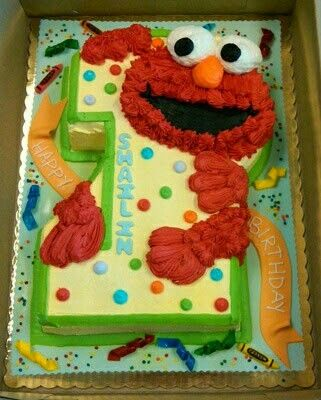 Elmo 2 Elmo Birthday Cake First Birthday Cakes Elmo