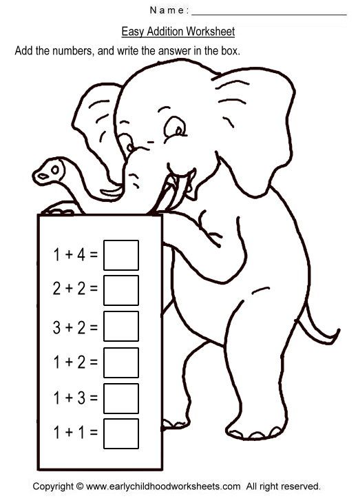 simple addition worksheets | Easy Addition Worksheets | math ...