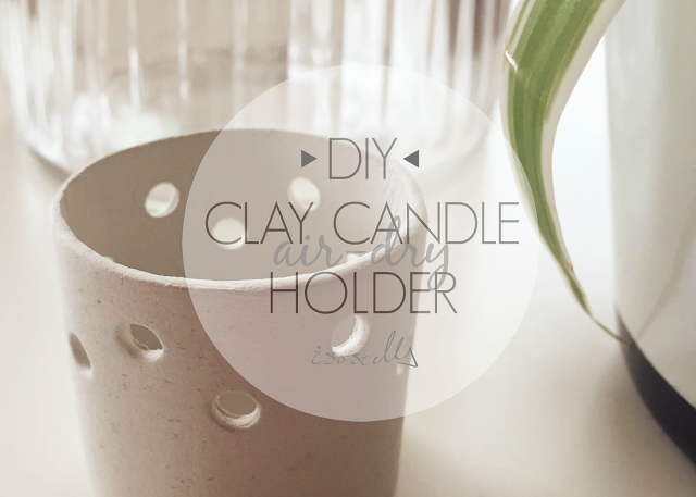 Diy Airdry Clay Candle Holder … Clay candle holders diy