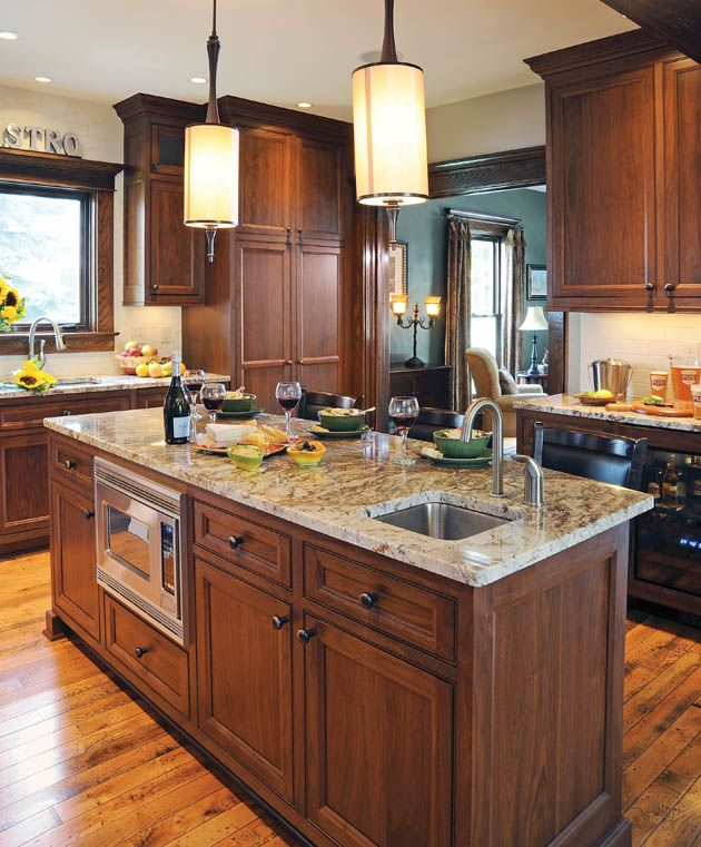 housetrends: kitchen remodel in granville. cherry or maple
