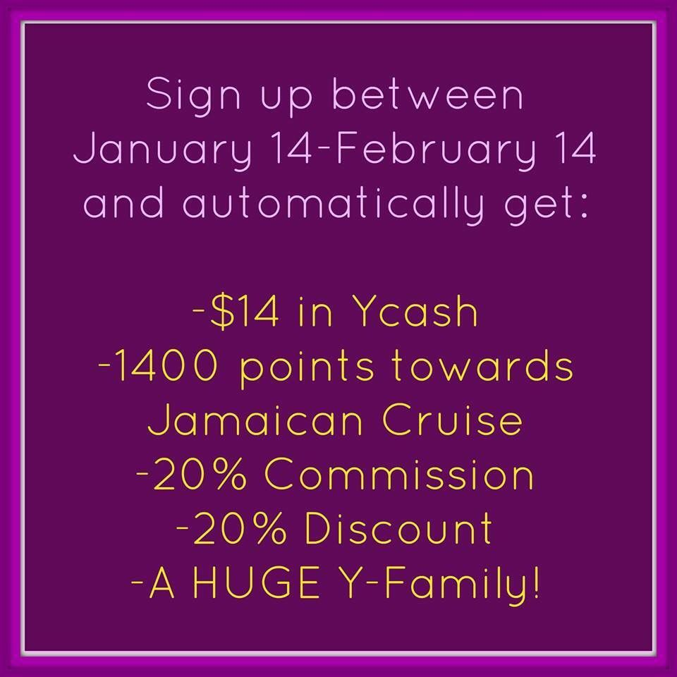 Join my team between 1/14/15 - 2/14/15 and earn points towards an all inclusive cruise to JAMAICA!!! Join through my website www.youniqueproducts.com/NatalieMoraga
