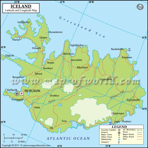 Iceland Latitude And Longitude Map Maps And Pinterest - What is the latitude and longitude of iceland