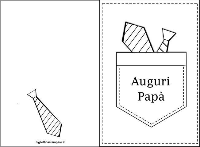 Festa del Papà - Biglietto con taschino