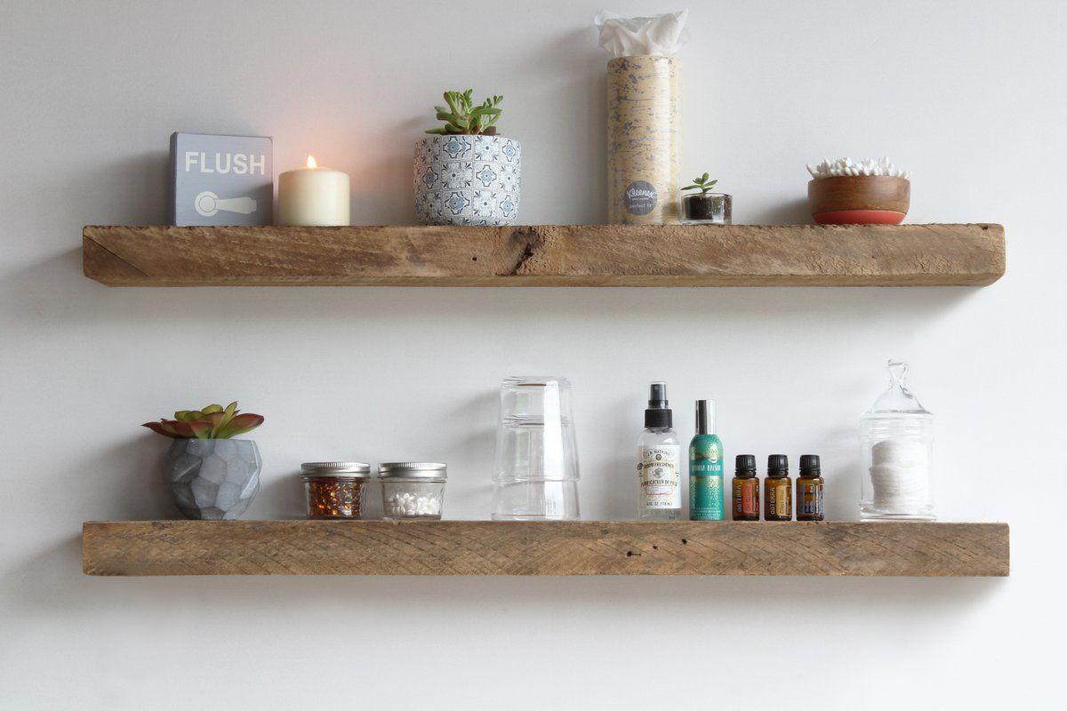 Joao 2 Piece Poplar Solid Wood Floating Shelf Reclaimed
