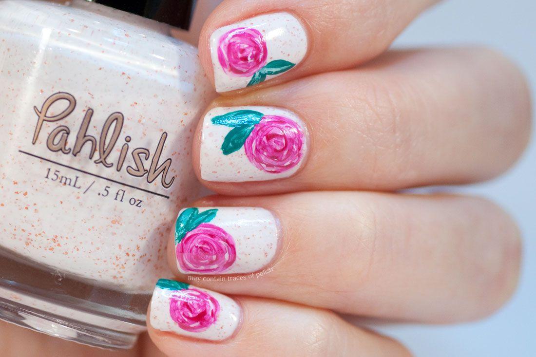 Mega Roses Nail Art   Nails   Pinterest   Rose nail art, Pedicure ...