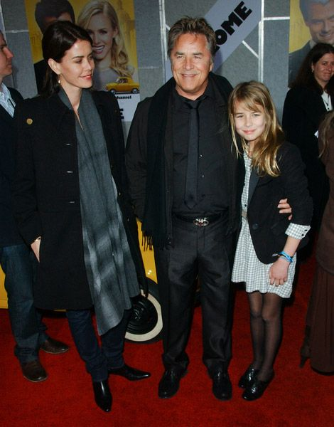 Don Johnson, wife Kelley Phleger and Atherton Grace ...