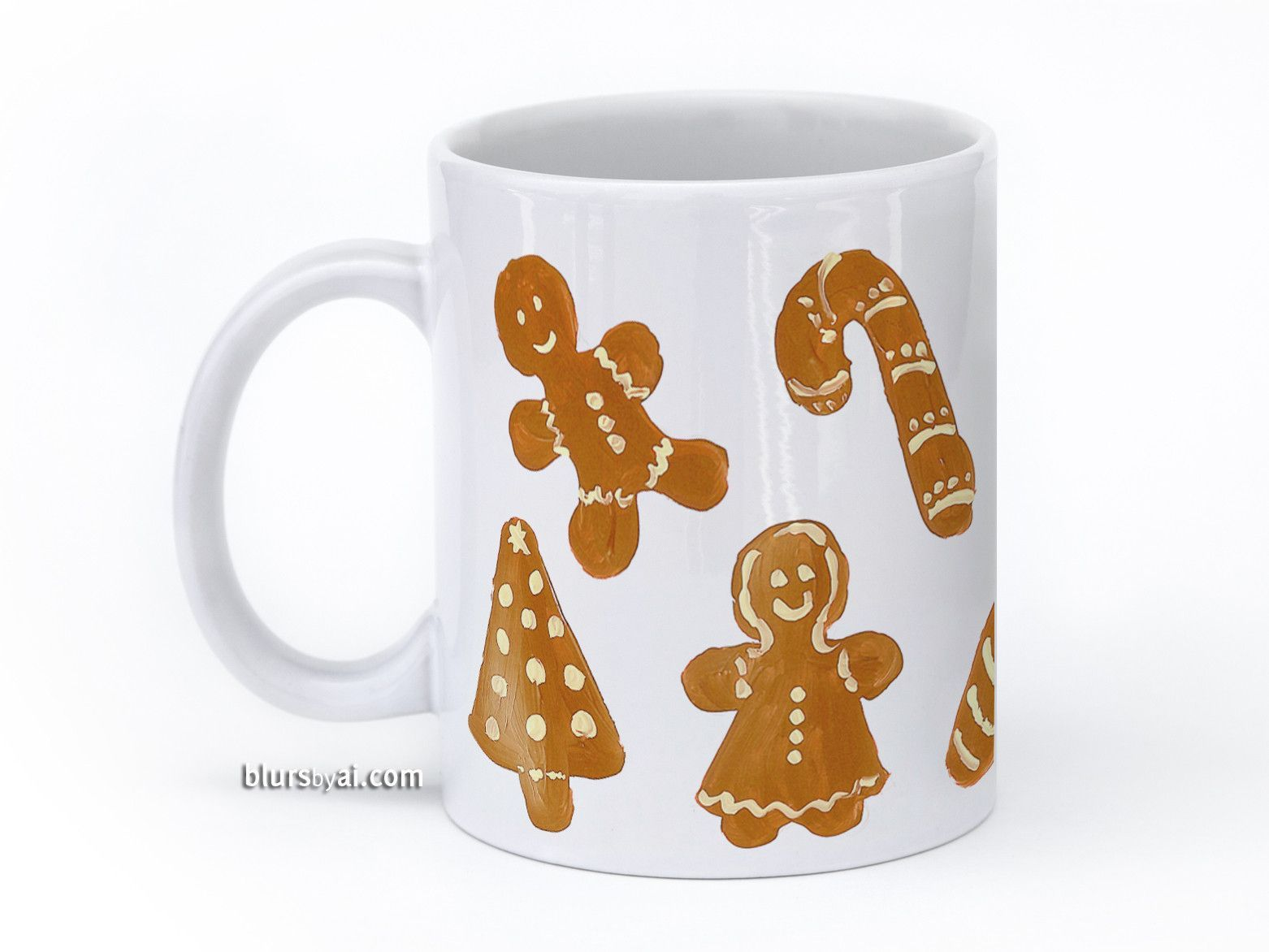 Gingerbread Christmas cookies mug  #HandPainted #ChristmasTree #GingerbreadCookies #ChristmasGingerbreadCookies #CandyCane #GingerbreadMen #ChristmasGift #ChristmasMug #11OzMug #CoffeeMug