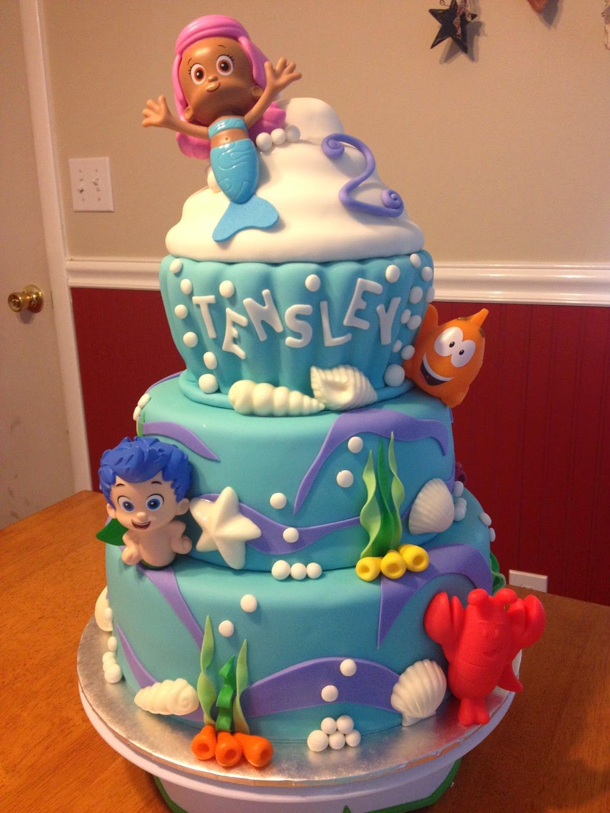 Bubble Guppies Cake Sugar Love Cake Design Pinterest