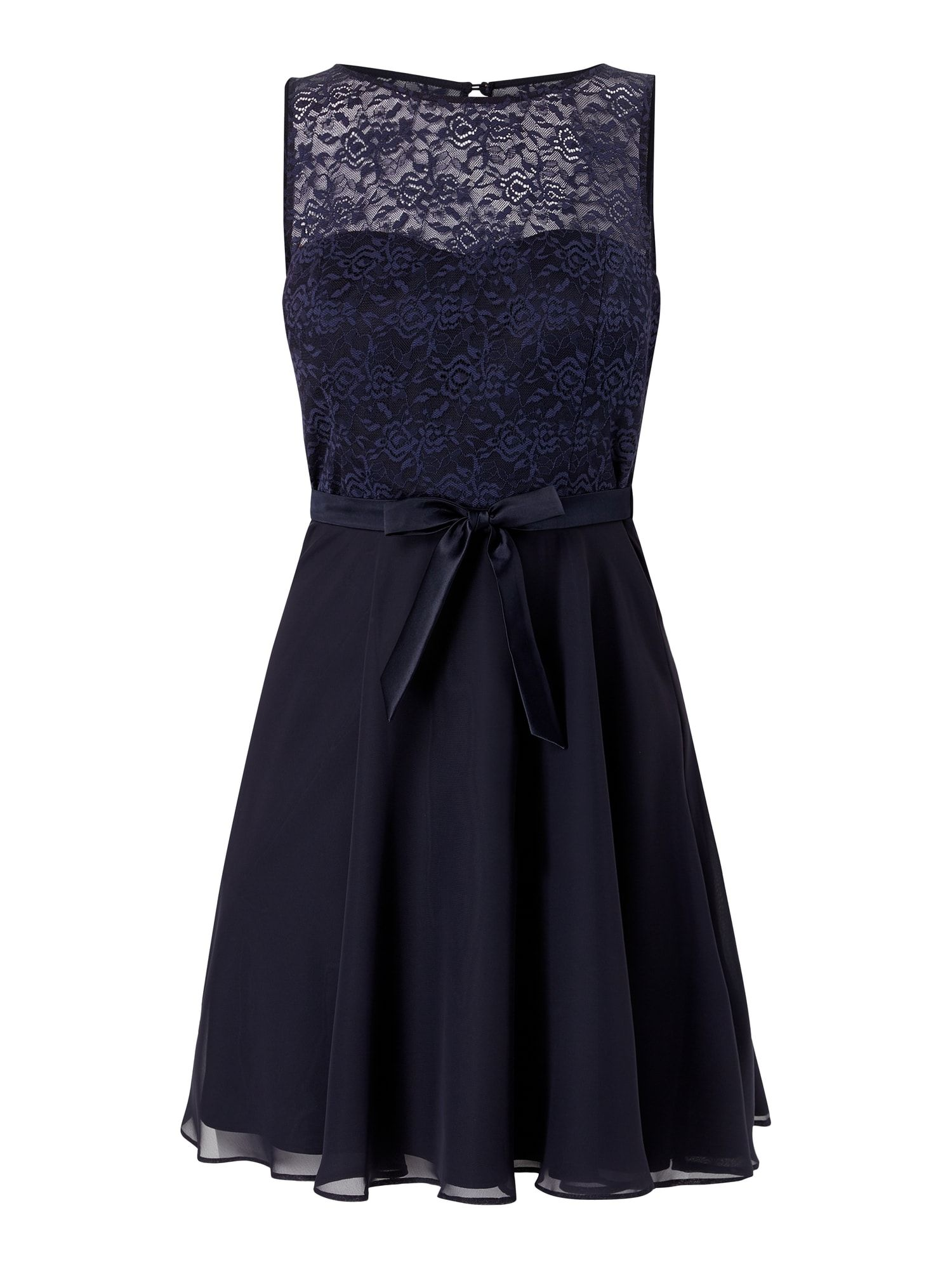 V.M. – Kleid mit floraler Spitze – Dunkelblau in 20