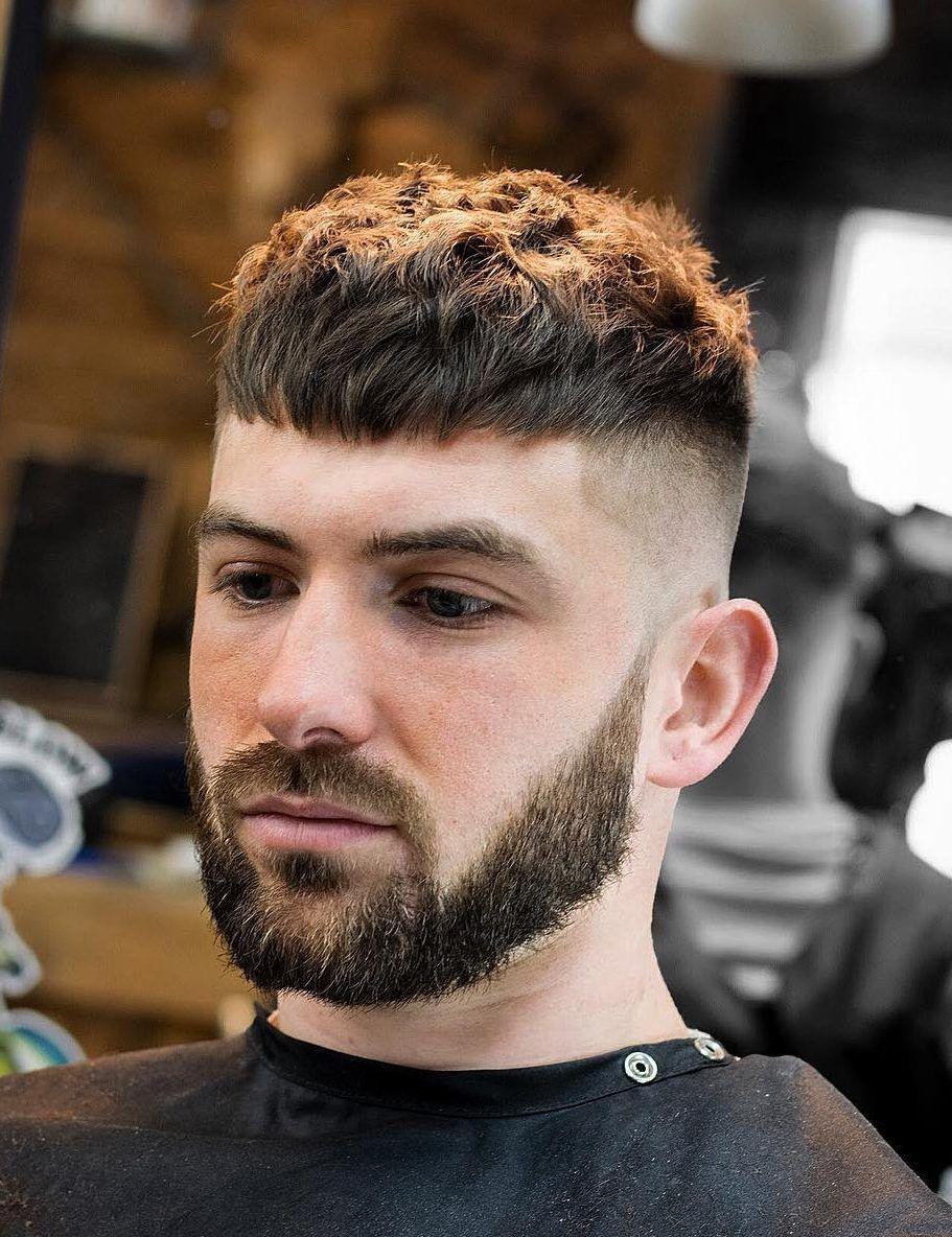 Crop Texture Degrade Haut Barbe Deconnectee Coupe De Cheveux Homme Coiffure Homme Cheveux Homme Coupe Cheveux Homme