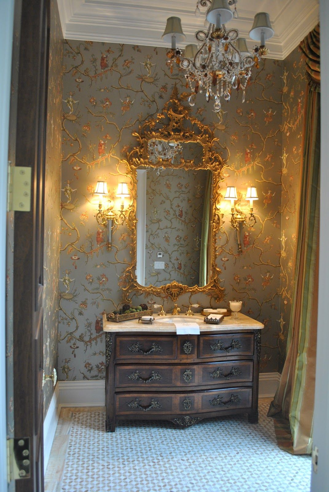 vanity top sconces wallpaper the enchanted home party on home inspirations this year the perfect dream bathrooms diy bathroom ideas id=77577