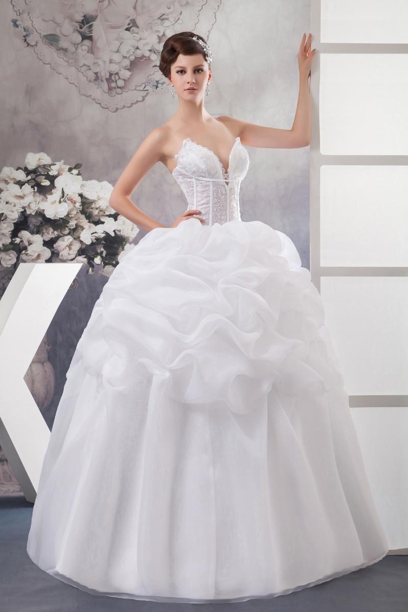 Wholesale Designer Wedding Dresses - Buy Hot Sale White Organza A ...