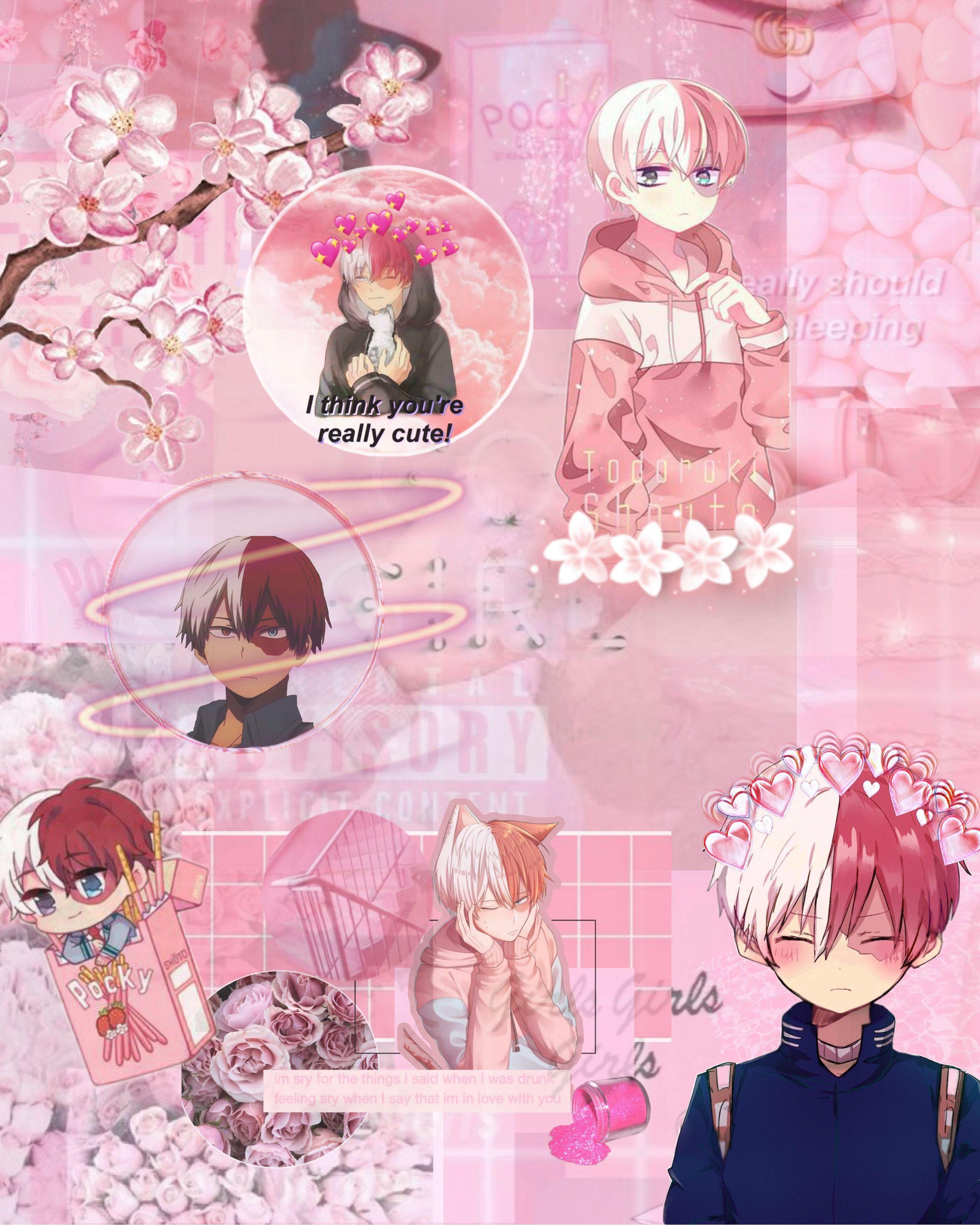 Shoto Todoroki Pink Wallpaper nothinglikejk Pink