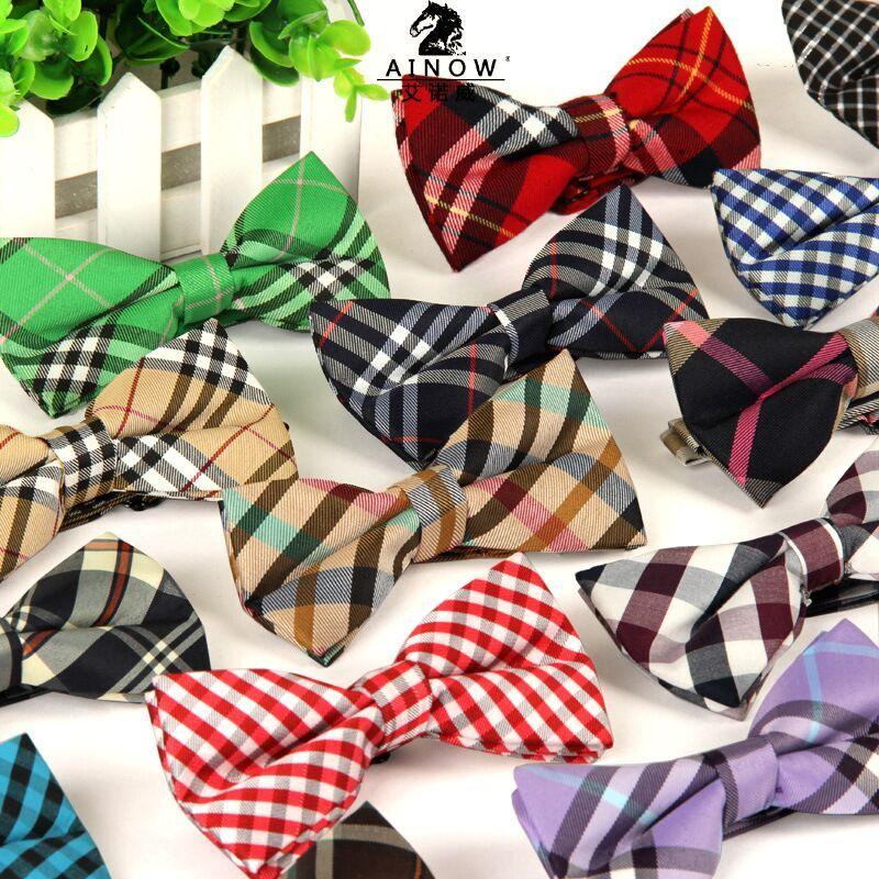 De alta qualidade da moda 2016 homens casuais de Algodão bow tie bowtie Gravata borboleta gravata Xadrez bowties dos homens para o homem muito