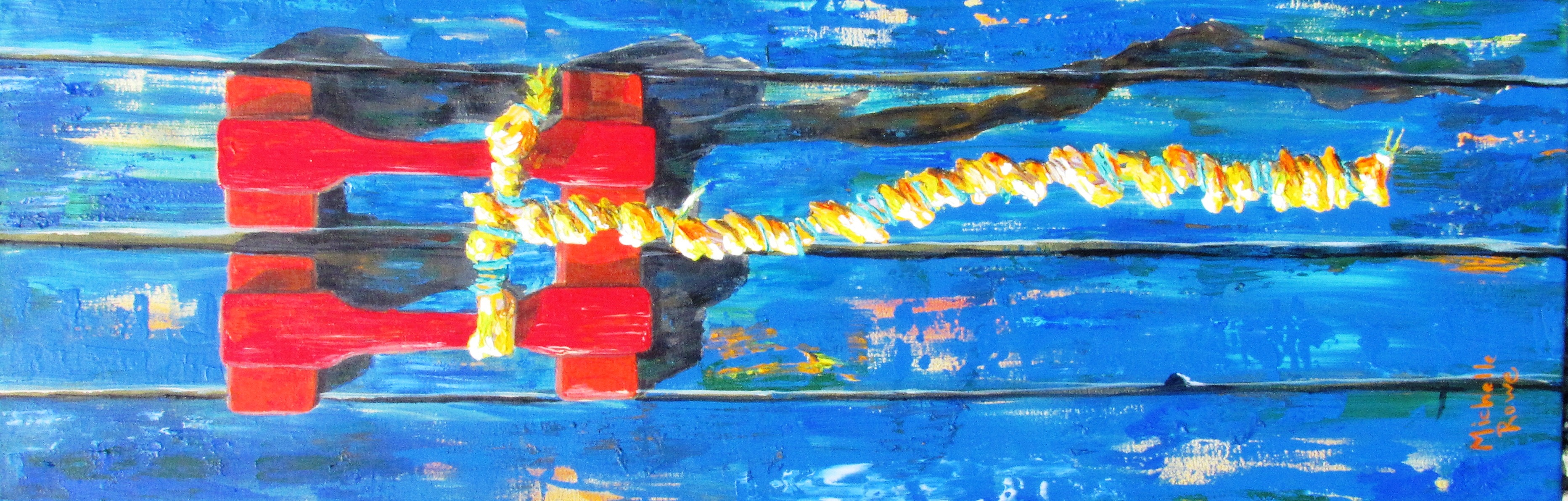 Original acrylic Painting is currently hanging at Bacalao Resturant St John's NL. For Sale.