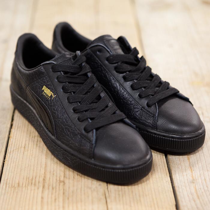 Puma Basket Black Leather
