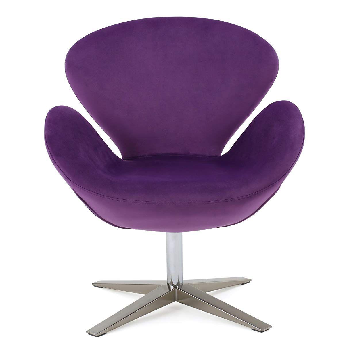 Tremendous Velvet Contour Swan Swivel Chair Accent Chair Pinterest Forskolin Free Trial Chair Design Images Forskolin Free Trialorg