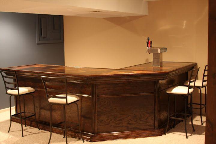 Home built bar with keezer Basement man cave Pinterest – Home Built Bar Plans