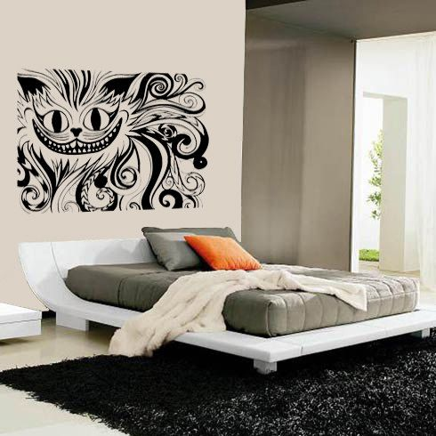 Cheshire Cat Vinyl Decal Laughing Urchin Designs Inspiration
