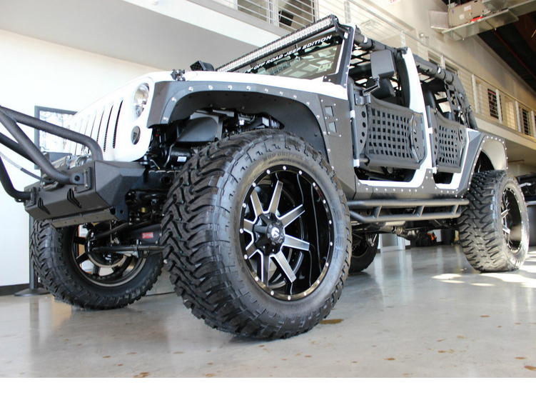 this jeep wrangler is bonkers check out it 39 s kevlar coated body 38 tires and 22 wheels you. Black Bedroom Furniture Sets. Home Design Ideas