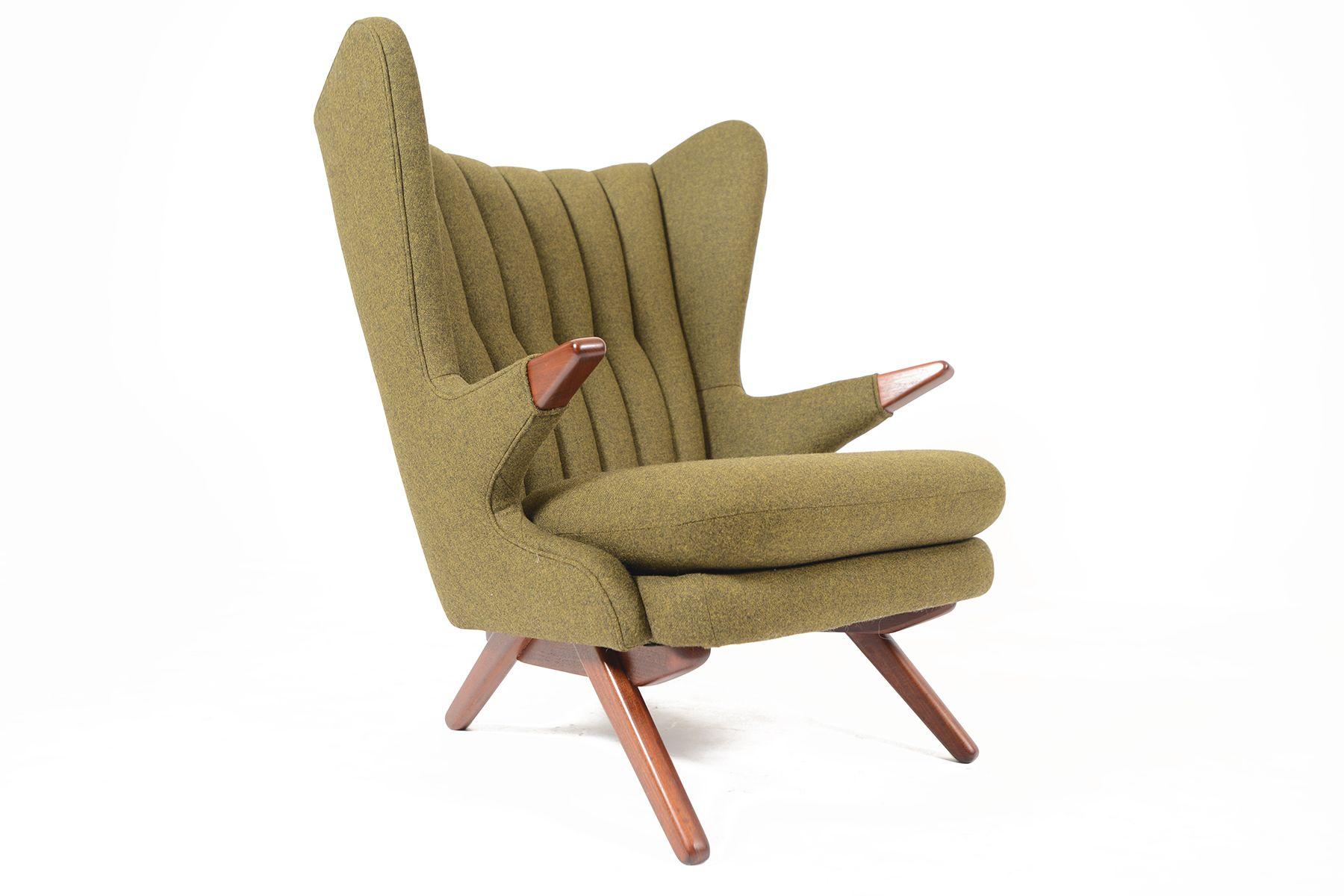 Svend Skipper Model 91 Papa Bear Chair in Olive Wool