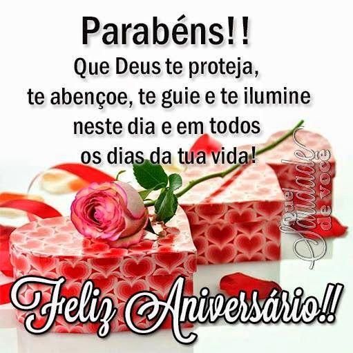 Que Saudade De Você Que Deus Te Proteja Feliz Aniversário