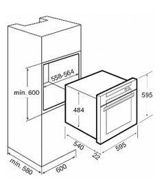 Medida de horno empotrado buscar con google home decor for Medidas de hornos pequenos